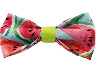 Watermelon Lime dog bow-tie|Summer fashion|Dog accessories|Wedding|Hipster|Gifts for dogs and dog lovers