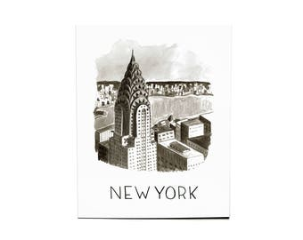 8x10 New York Watercolor Print