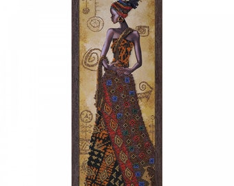 "DIY Bead Embroidery Kit, Bead Embroidery Patterns ""Mysterious African Girl"", Beaded Painting, Beaded Embroidery Kit, Embroidery"