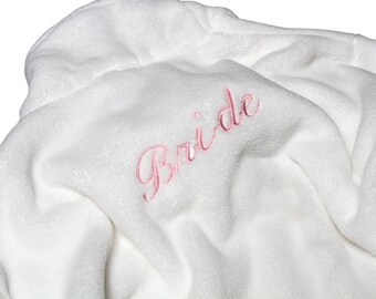 Customized Bridal Robe for Weddings - Wrapped In A Cloud Plush Spa Robe Multiple Colors Available