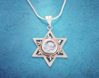 Magen david pendant etsy roman glass pendant sterling silver magen david silver jewish star of david pendant aloadofball Image collections