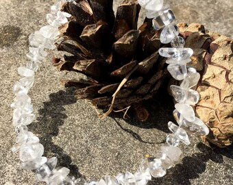 Beaded Bracelet with Rock Quartz and Crystals