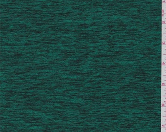 Space Dye Emerald Green Activewear, Fabric By The Yard