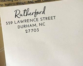 Address Stamp, Return Address Stamp, Self Inking Address Stamp, Custom Wooden Stamp, Personalized Address Stamp, Family Name Address Stamp