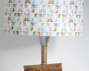 Lampshade exotic leaves - cylinder 28 round - cylindrical - cm - handmade - handmade - gift idea - lampshade