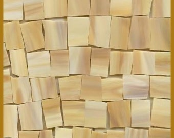 """Mosaic Tiles 100 1/2"""" tan LIGHT n WOODY Stained Glass Mosaic Tile"""