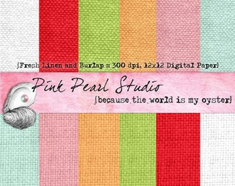 Fresh Linen and Burlap Digital Paper Pack 12x12 ...Scrapbooking, Crafts and Cardmaking