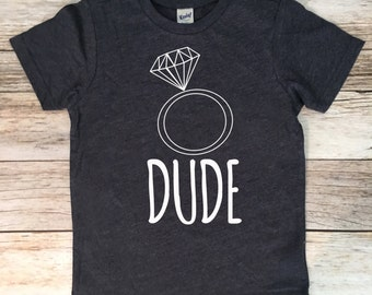 Ring Dude Shirt,Ring Bearer T-Shirt,Ring Bearer monogram name shirt,Ring bearer gift, Ring Bearer gift, Ring Dude, Ring dude