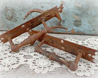 antique thumb latch door handle set old norfolk hand forged vintage hardware 1800s victorian door handles