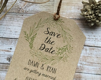 Rustic Save the Date, Laurel Save the Date, Country Save the Date, Shabby Chic Save the Date, Rustic Wedding Save the Date,Custom