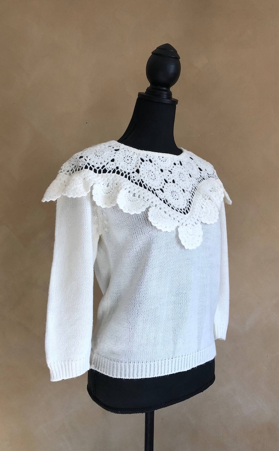 Crocheted Sweater Vintage 80's