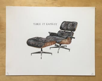 Take it Eamesy original art print