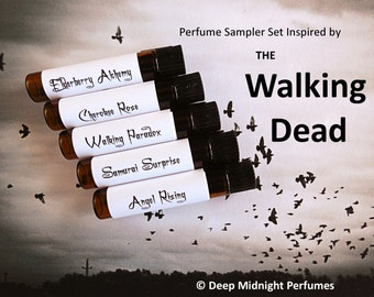 WALKING DEAD inspired PERFUME Sampler - Set #1