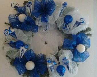 Duke  Blue Devil Wreath