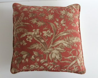 Luxury cushion pillow cover burnt orange matching piping
