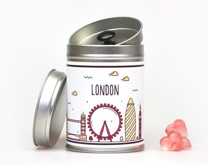 LONDON SKYLINE Gift Tin personalized