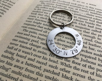 Keychain with custom co-ordinates