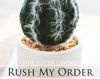 RUSH ORDER Request for Her Silver Lining - Need Your Order Soon! Message Me BEFORE Purchase