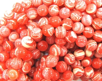 "10mm synthetic pink rhodochrosite round beads 15.5"" strand 31447"