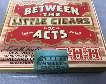 Little cigar tin   Between the acts little cigars