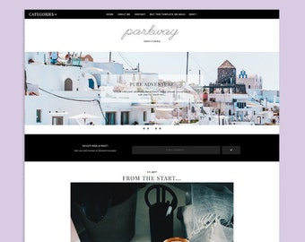 Parkway | Responsive Minimalistic Premade Blogger Template