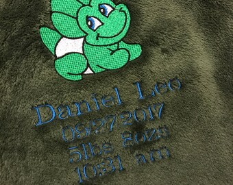 Personalized Dinosaur Blanket