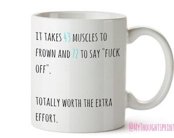 43 tasse de muscles, drôle de cadeau, Mugs Funny, tasse de café, des cadeaux pour elle, Funny Mug, cadeaux d'anniversaire, cadeaux pour lui, un ami cadeau, cadeau pour un ami