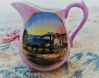 Whitefish Montana --  Old Wonder Store Central Avenue Souvenir Pitcher