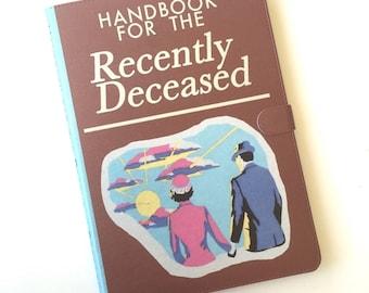 Book iPad case- Handbook for the Recently Deceased - Beetle Juice case - for iPad mini 1, 2, 3, 4