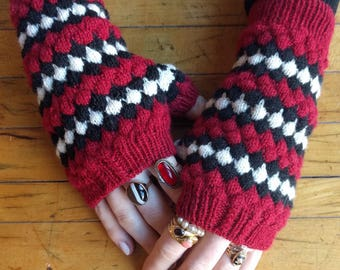 Instant Download: Milk Snake Mitts knitting pattern PDF