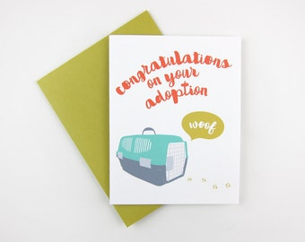 Congratulations on Your Adoption: New Dog Card