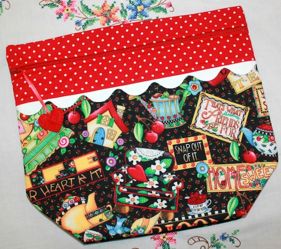 Big Bottom Bag Mary Engelbreit Bloom Cross Stitch, Embroidery Project Bag
