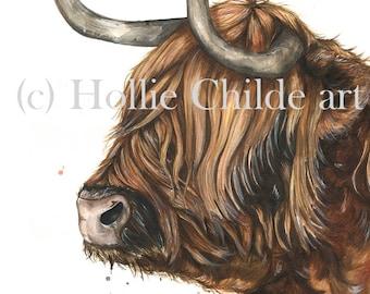 Hamish the highland Limited edition print