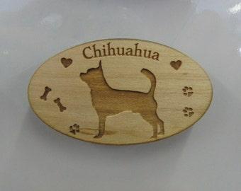 Original Design Chihuahua Wood Magnet