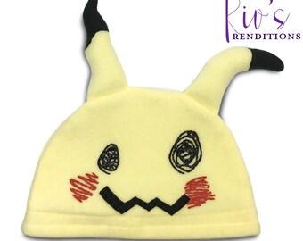 Pokemon Fleece Hat - Mimikyu - Pokemon Hat - Spookachu Super Cozy Beanie