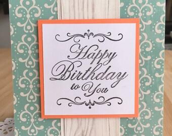 Beachy Handmade Birthday Card