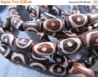 ON SALE 20% OFF African Trade Ox Bones Beads 32pc