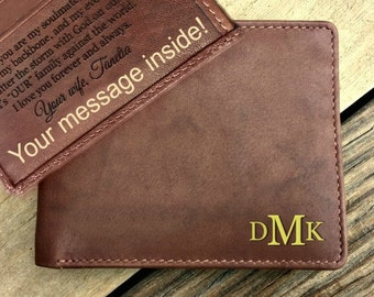 Valentines gift • Valentine's gift for men • Valentines Day Gift • Leather Wallet • Personalized Wallet • Men's wallet • Toffee  7751*