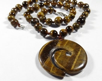 Knotted Tiger's Eye Necklace
