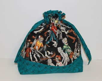 Zombie Drawstring Project Bag