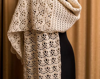 Crochet Shawl Pattern, Stole Pattern, Woman Shawl, Crochet Shawl PATTERN, Pattern Shawl Crocheted, Instant Download, DoroGato. /1010/