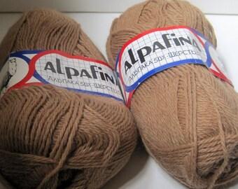 2 skeins of Alpafina yarn destash