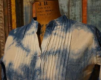 Shibori Linen Tunic