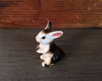 Japanese Bone China Brown Bunny Rabbit Figurune