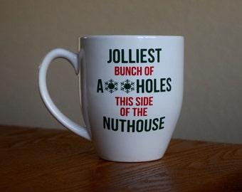 Jolliest bunch of assholes mug / christmas vacation mug