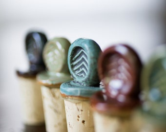 4- Ceramic Wine Stoppers (Holiday Special)