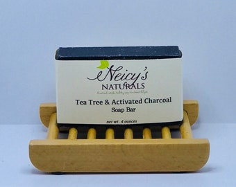 Tea Tree & Activated Charcoal | Soap Bar | 4oz | Cold Process | Detox Soap
