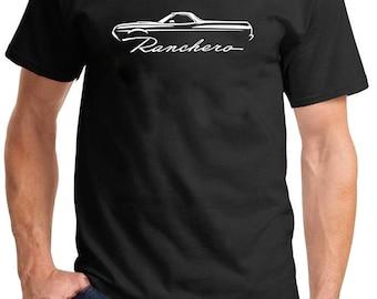 1972-76 Ford Ranchero Classic Outline Design Tshirt