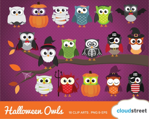 acheter 2 get 1 free cute halloween hibou clipart image. Black Bedroom Furniture Sets. Home Design Ideas