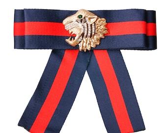 Designer inspired bow tie brooch